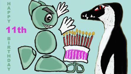 Happy 11th deviantArt Birthday by WilliamSnape
