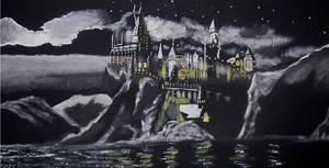 Hogwarts Castle at Night by WilliamSnape