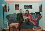 Blaues Sofa by WilliamSnape