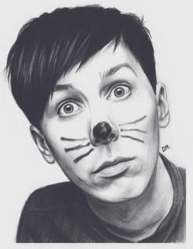 Day 2 - Portrait of Phil by DraconaMalfoy