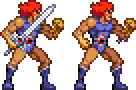 Lion-O (retro action sprite) by Carnivius