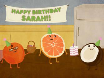 Birthday Fruit by storybox