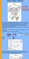 Anime Style Colouring Tutorial by Tioz