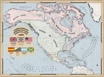 Napoleonic Empire in North America (Alt History) by ZalringDA