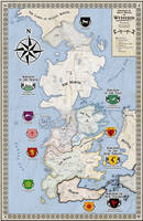 Alternative map of Westeros (Game of Thrones) by ZalringDA