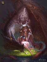 Guardian Dragon by GjschoolArt