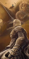 Eowyn and the Nazgul by razwit