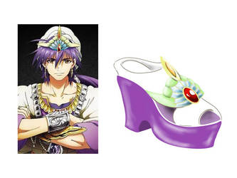 Magi the labyrinth of magic Sinbab - Shoe design by Pobepom