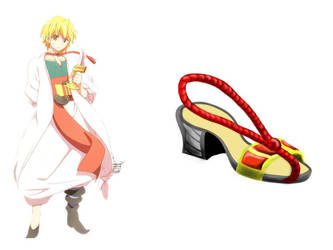 Magi the labyrinth of magic Alibaba - Shoe design by Pobepom