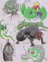 Reptilian ATLA Critters by MenollySagittaria