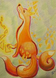 Magic Dorito Fox by MenollySagittaria