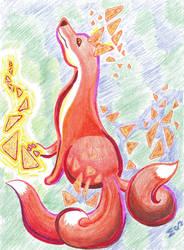 Magic Dorito Fox [scanned] by MenollySagittaria