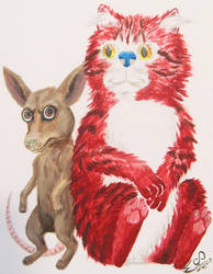 Realistic Ren and Stimpy by MenollySagittaria