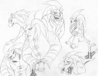 Joker sketches galore by InkHyaena