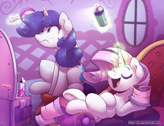 ManeSwap: Rarity and Sweetie Belle by Littleivy25