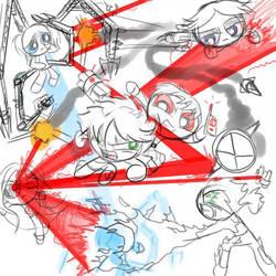 Puff/Ruff Battle Royale by BeeAre