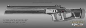 Fictional Firearm: HC-SGR50x Sniper Rifle by CzechBiohazard