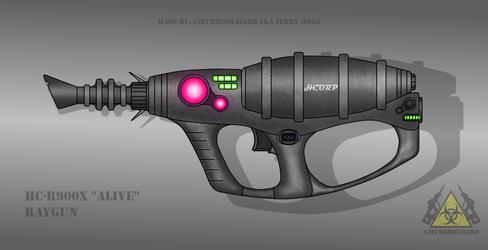 Fictional Firearm: HC-R900X [Alive] Raygun by CzechBiohazard