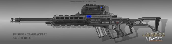 Fictional Firearm: HC-SR514 Barracuda Sniper Rifle by CzechBiohazard