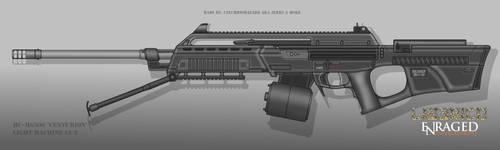 Fictional Firearm: HC-MG505 Centurion LMG by CzechBiohazard