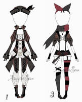 RPG outfit adoptable batch OPEN 1/3 by AS-Adoptables