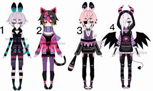 punk kemonomimi adoptable batch CLOSED by AS-Adoptables