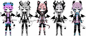 goth demon adoptable batch CLOSED by AS-Adoptables