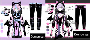 goth demon cat adoptables CLOSED by AS-Adoptables