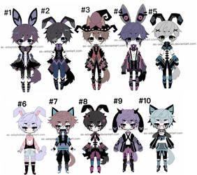 kemonomini adoptable batch open price lowered by AS-Adoptables