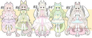sweet kitsune adoptable batch open by AS-Adoptables