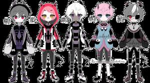Oni demon adoptable batch open by AS-Adoptables