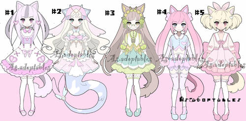 sweet kemonomini adoptable batch closed by AS-Adoptables
