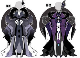 dark princess outfit adoptable batch closed by AS-Adoptables