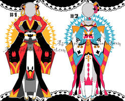 kimono outfit adoptable batch closed by AS-Adoptables
