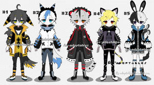 punk kemonomini adoptable batch closed by AS-Adoptables