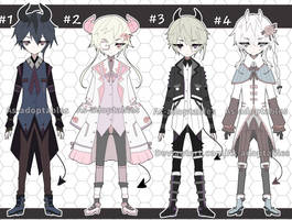 Victorian demon adoptable batch open set price by AS-Adoptables