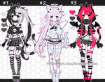 Gothic Kemonomimi Adoptables closed by AS-Adoptables