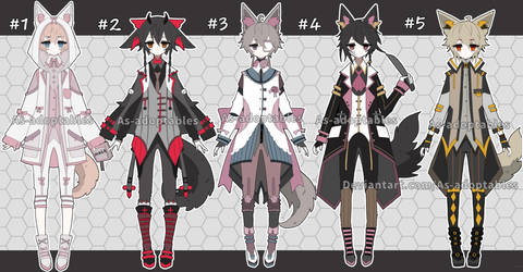 Victorian kemonomimi adoptables CLOSED by AS-Adoptables