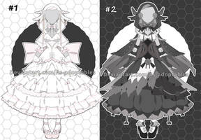 Black white princess outfit adoptables closed by AS-Adoptables