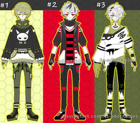 Vampire boy adoptable batch open set price by AS-Adoptables