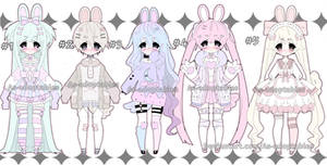 Sweet bunny adoptable batch closed by AS-Adoptables