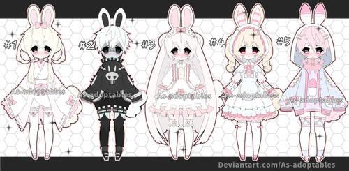 Bunny adoptable batch open set price by AS-Adoptables
