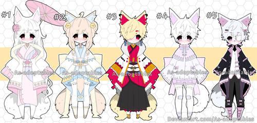 Kitsune adoptable batch open set price by AS-Adoptables