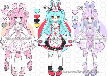 Sweet bunny adoptable batch open set price by AS-Adoptables
