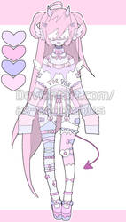 sweet blind oni adoptable open set price by AS-Adoptables