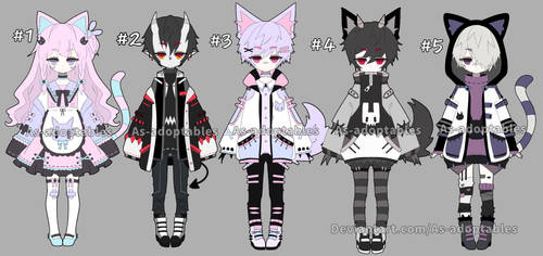 Kemonomimi adoptable batch open set price by AS-Adoptables