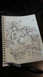 doodle on blocnote by onwa7