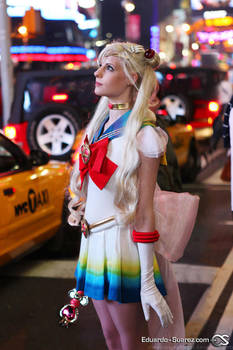 Sailor Moon in Times Square by meteorie