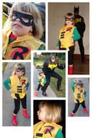 Batman + Robin Halloween 2008 by whoisrico