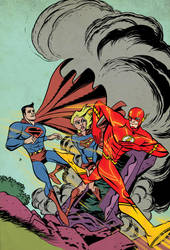 Flash 75 Supergirl Cover by Michael Avon Oeming by whoisrico